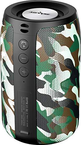 Cassa Bluetooth, Altoparlante Bluetooth Portatile 5.0 Senza Fili Speaker Wireless Waterproof IPX5 Mini Con TWS 12 Ore Di Riproduzione AUX/TF/USB Per Esterno Casa Viaggio Camuffamento