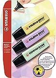 Surligneur - STABILO BOSS ORIGINAL Pastel - Pack de 3 surligneurs - Coloris assortis