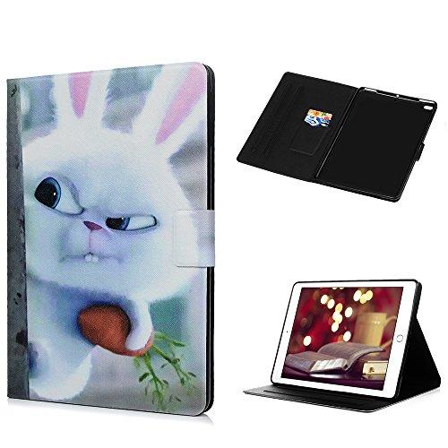 Funda para iPad Air, iPad 2017 9.7 Pollici Carcasa Silicona Suave Goma Gel PU Cuero iPad Air 2 Case con Soporte Función, Cubierta Auto-Sueño/Estela, Bumper Case for Piña De Conejo