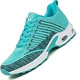 Mishansha air zapatos de running mujer antideslizante zapatillas de deportes femenino ligeros calzado jogging gimnasio sneakers verde, gr. 38 eu
