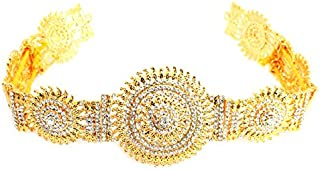 UG PRODUCTS Women's Gold Plated Stone Waist Belt