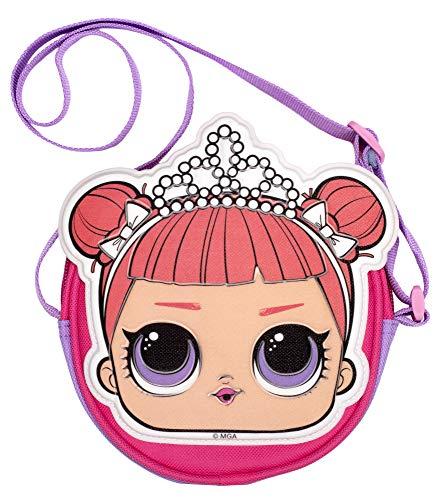 L.O.L Surprise! LOL Dolls Handbag for Girls | Glitter Crossbody Bag | Fashion Shoulder Handbag | Kitty Queen | Stage Centre (Stage Centre)