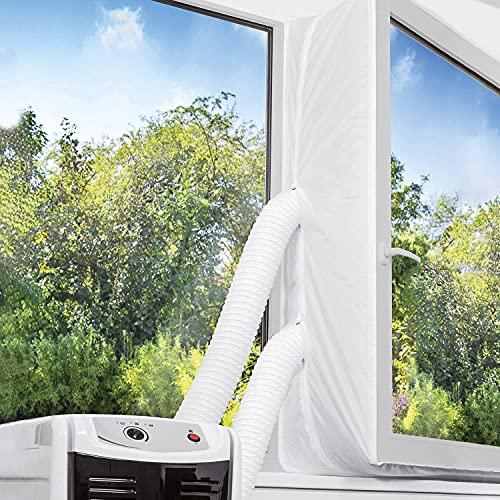TOPOWN 300cm Guarnizione Universale per Finestra per Condizionatore Portatile con Due Set di Cerniere Facile Installazione Nessun Bisogno di Fori di Trapano Guarnizione climatizzatore Portatile