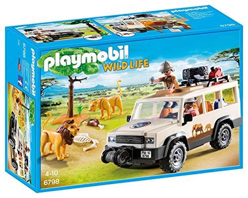 PLAYMOBIL Wild Life 6798 Safari-Geländewagen mit Seilwinde, Ab 4 Jahren