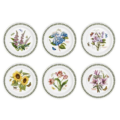 Portmeirion Botanic Garden Speiseteller, weiß, 6-Piece