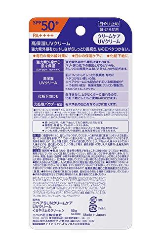 ニベア花王『ニベアニベアサンクリームケアUVクリームSPF50+』