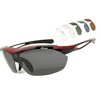 ellesse エレッセ 高性能スポーツサングラス 偏光 驚異のフルセット 交換用レンズ5枚付 ES-S108-C4