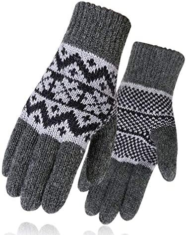 Men Mitten Casual Gloves Knitted Gloves Winter Warm Men&Women Guantes Creative Thicken Gloves Warm Print Quality Gloves - (Color: 3, Gloves Size: One Size)