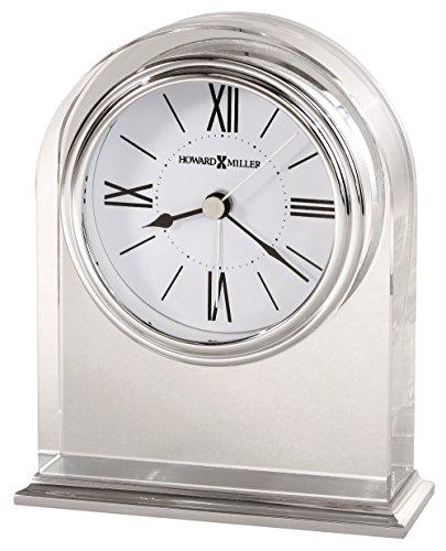 Howard Miller Relógio de mesa Optica 645-757 – Vidro moderno com quartzo, movimento de alarme