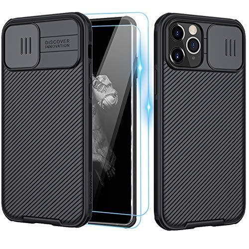 XCYYOO Funda para iPhone 12 Pro MAX(6.7),[Protección de la cámara] [2 Pack Protector Pantalla ] Deslizante Cámara Proteger Ultra-Delgado PC Prueba Polvo Antideslizante Anti-arañazos Estuche