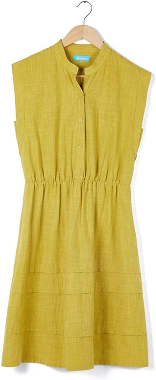 Casual Maternity Clothes Breastfeeding Clothes Dress Without Sleeve Soft and Snug Wear to Work (color   Yellow, Size   L)