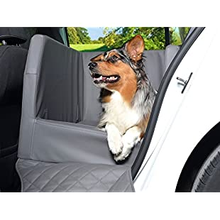 Customer reviews PadsForAll Car Dog Bey, Rear Seat Cover, Car Blanket, Also in Visco Elastic, Silver