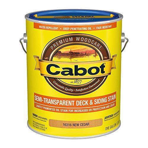 Cabot 140.0016316.007 Semi-Transparent Deck & Siding Low VOC Exterior Stain