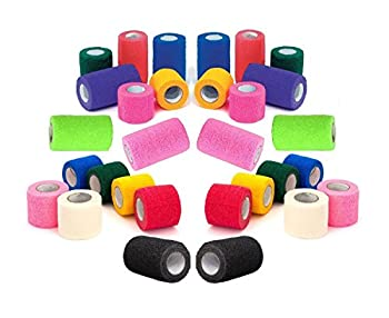 Prairie Horse Supply Vet Wrap Tape Bulk  Assorted Colors   6 Pack   3 Inches Wide  Vet Rap Medical First Aid Tape Self Adhesive Adherent for Ankle Wrist Sprains and Swelling