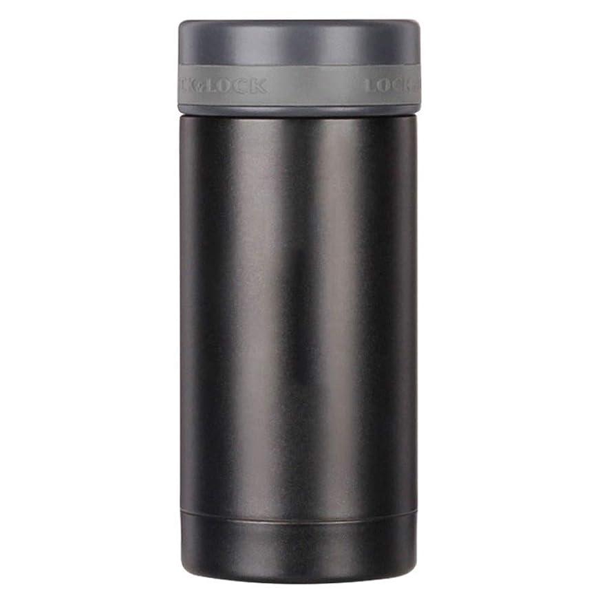 分配しますライブ翻訳する水筒、 やかん 真空 断熱材 ステンレス鋼 マグカップ 保温する (Color : ブラック)