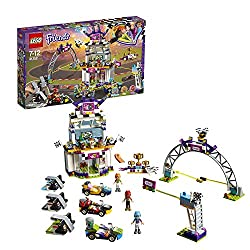 Build an amazing race scene with VIP lounge, podium, start/finish builds and 3 go-karts with launchers Includes Stephanie, Mia and Vicky LEGO Friends mini-doll figures, plus Vega the cat, Dash the dog and Twister the rabbit figures Accessory elements...