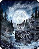 #Wölfe #Gebirge #Fluss #Wald 75x100 oder 100x125 oder 125x200 oder 150x200 cm