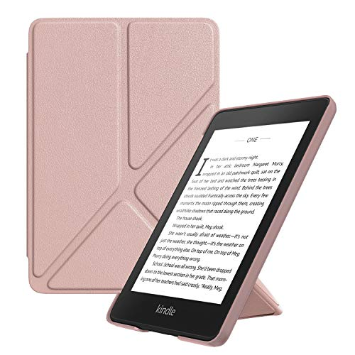 MoKo Case Replacement with Kindle Paperwhite (10th Generation, 2018 Releases), Standing Origami Slim Shell Cover with Auto Wake/Sleep for Amazon Kindle Paperwhite 2018 E-Reader - Rose Gold