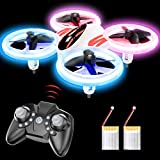 Mini Drone for Kids - RC Nano Quadcopter LED Indoor Drone for Kids and Beginners w/Altitude Hold, Headless Mode, 3D Flips, One Key Return, Speed Adjustment Kids Toys for Boys and Girls