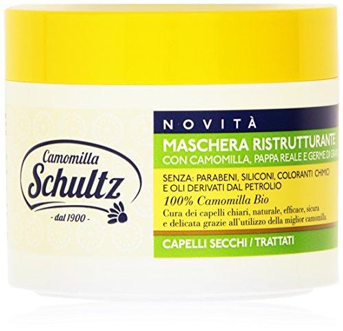 Schultz - Camomilla, Maschera Ristrutturante con Camomilla, Pappa Reale e Germe di Grano - 300 ml