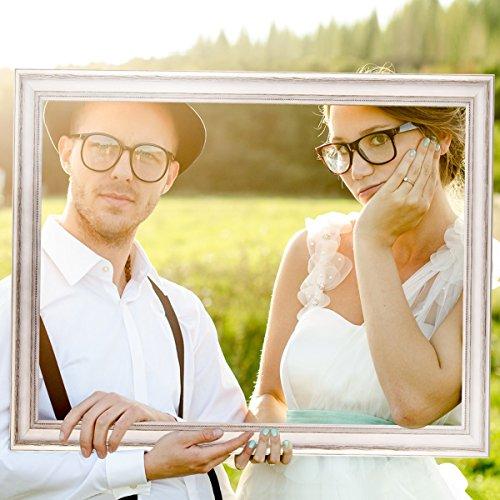 Hochzeits-Bilderrahmen | 50 x 70 weiß - 5