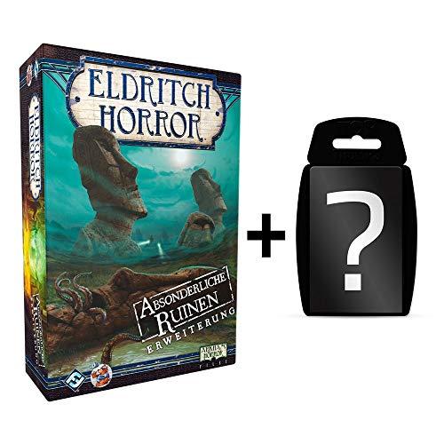 Eldritch Horror - Absonderliche Ruinen - Erweiterung DEUTSCH   Brettspiel   Lovecraft Horror   Set inkl. Kartenspiel