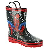 Favorite Characters Boy's Spider-Man Rain Boots F20 SPF504 (Toddler/Little Kid) Black 9 Toddler M