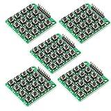 ARCELI 5PCS 4x4 Matriz 16 Teclado Teclado Módulo 16 Botón Mcu para Arduino