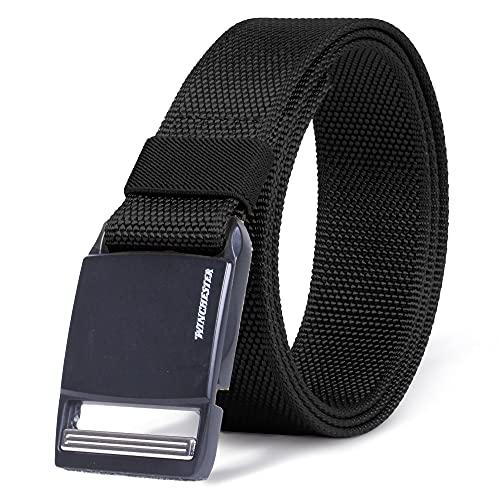 Winchester Tactical Belt Magnetic Buckle, Hiking Gear Essentials, Zulu Black, M