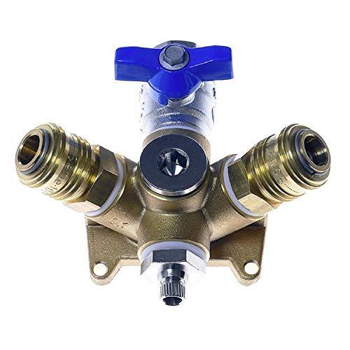 Druckluftverteiler Robust EVM 15-2 AV, Gold, innen G 1/2