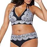 Rawdah-- Donne Taglie Forti Costume da Bagno Plus Size Donna Due Pezzi Ragazza Brasiliana Imbottito Reggiseno Spiaggia Costumi da Bagno Vita Alta Donna Bikini Due Pezzi Mare Push up (484, XL)