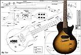 Plan de Gibson Les Paul Junior guitarra eléctrica–escala completa impresión