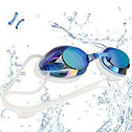 VETOKY Swimming Goggles, Racing Swim Goggles UV Protection No Leaking Anti Fog Crystal Clear Vision ...