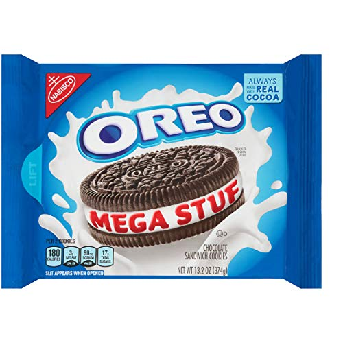 Oreo Mega Stuffed Chocolate Cookies 13.2 Ounce (Oreo Mega Gefüllte Schokoladenplätzchen 13,2 Unzen)