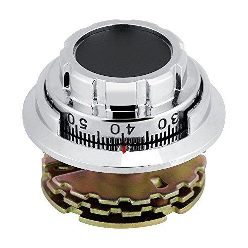 Verchroomd metaal met kleurgecodeerde wijzerplaat voor de veiligheid van het huis, sieraden voor het toilet, cijferslot met 3 schijven, cassette met digitaal dialblok.