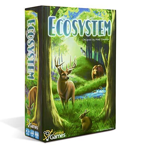 Genius Games - 74568 Ökosystem Ökologie Brettspiel - Pädagogisches Wildlife Natur Biologie Tierfutterkette Lebensraum - Stiel - Wissenschaft