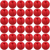 TableRe 36 Pack Premium Red Nose Foam Circus Clown Nose For Comic Party Supplies Halloween Decorations