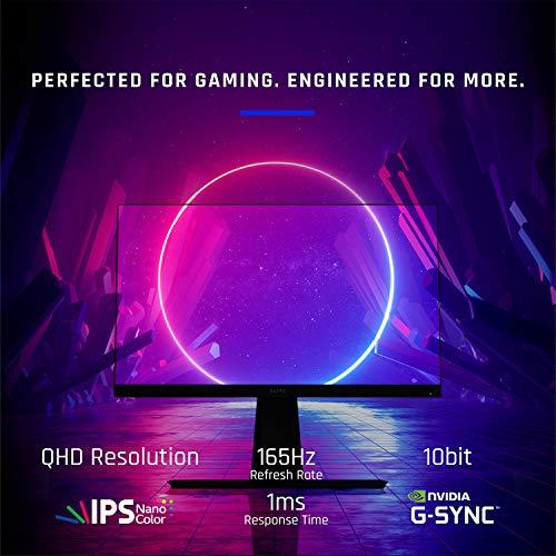 Viewsonic XG270QG 68,6 cm (27 Zoll) Gaming Monitor (WQHD, Nano IPS-Panel, 1 ms, 165 Hz, G-Sync, RGB Beleuchtung, HDMI, DisplayPort, Mouse Bungee, höhenverstellbar) schwarz - 7
