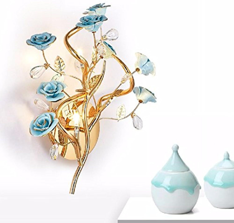 StiefelU LED Wandleuchte nach oben und unten Wandleuchten Wohnzimmer Keramik Blaume Garten Wandleuchte Schlafzimmer Bett Wandleuchten