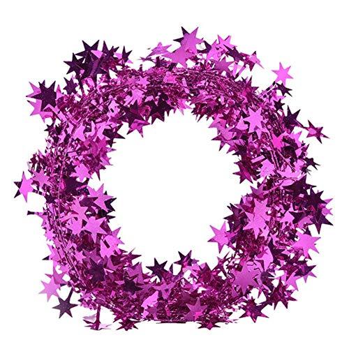 Cosanter Alambre de Hierro Espumillón para Cinta de árbol de Navidad Navidad Colgar Decoración Adornos de...
