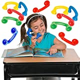 4E's Novelty Read to Self Phone, Whisper Phones for Reading [16 Pack] Auditory Feedback, Hear Myself Sound Phone - Accelerate Reading Fluency, Comprehension & Pronunciation - Speech Therapy Toys