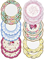 TALKING TABLES: presents our famous Truly Scrumptious Range of Afternoon Tea Party Supplies and Afternoon Tea Decorations OCCASION: Elegant and Pretty Floral Paper Plates for an afternoon tea party   mums birthday party   baby shower, picnic or kids ...