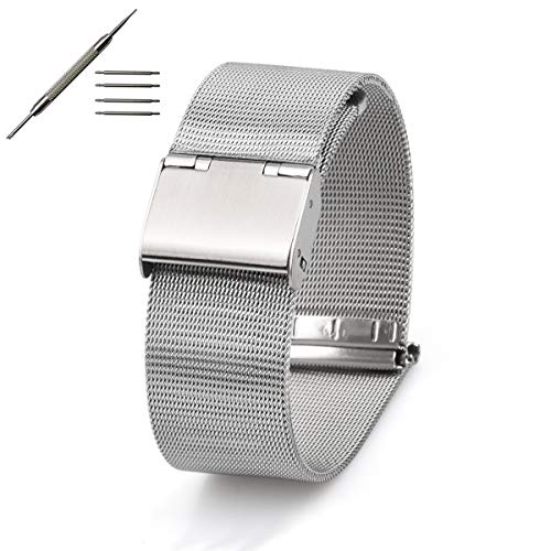 Watch Correa, 18 20 22 mm Milanese Loop Correa de Acero Inoxidable ...