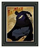 Bat Man art, splatter art, superhero decor,cool...
