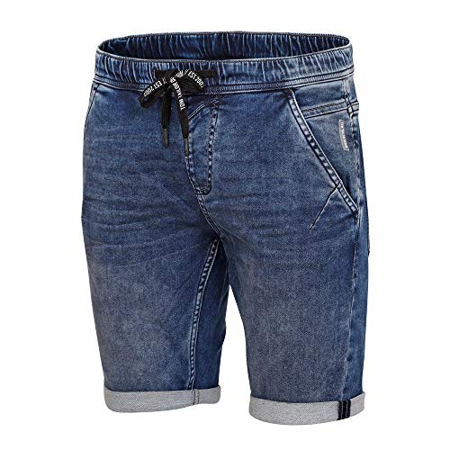 TOM TAILOR Denim Herren Denim Jogger Shorts, 10120-Used Dark Stone Blue, L