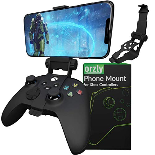 Clip de juego móvil para mando Xbox Series X, soporte de teléfono ajustable para mando Xbox compatible con Xbox Series X|S, Xbox One, Xbox One S, Xbox One X-Carbon negro