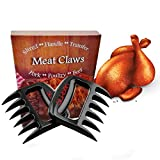 Silkbon Meat Claws, Best Pulled Pork Shredder, Meat Shredder Claws, Bear Claws Paws BBQ Smoker Shredding Non-Slip Curved Claw Handles for Lifting, Serving Grilling Chicken, Turkey, barbecue Shred Fork