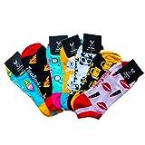 TwoSocks lustige Invisible Sneaker Socken | witzige Fahrrad Füßlinge als Geschenk | Einheitsgröße | Baumwolle | Damen und Herren