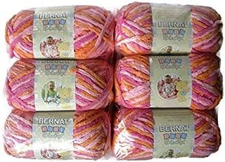 BERNAT Baby Blanket Yarn, 3.5oz, 6-PACK (Peachy)