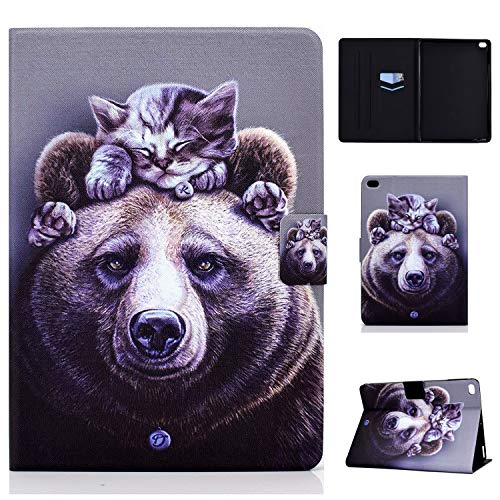 WHWOLF Suitable for iPad 9.7 Case (2017 & 2018) Tablet PU Leather Folio Protective Cover with Multiple Viewing Angles -sd38